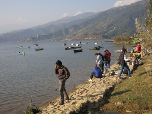 Lakes and rivers are the only source of fish in landlocked Nepal.