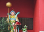 One of the many figures at the Guan Di Temple on Jalan Tun HS Lee.