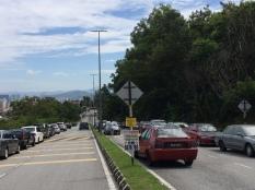 Parking along Jalan Taman Saga.