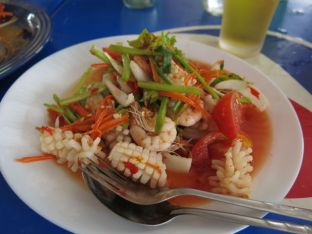 Yum Talay - a zingy seafood salad.