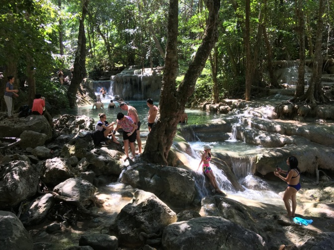 Every level of Thailand's breathtaking Erawan Falls